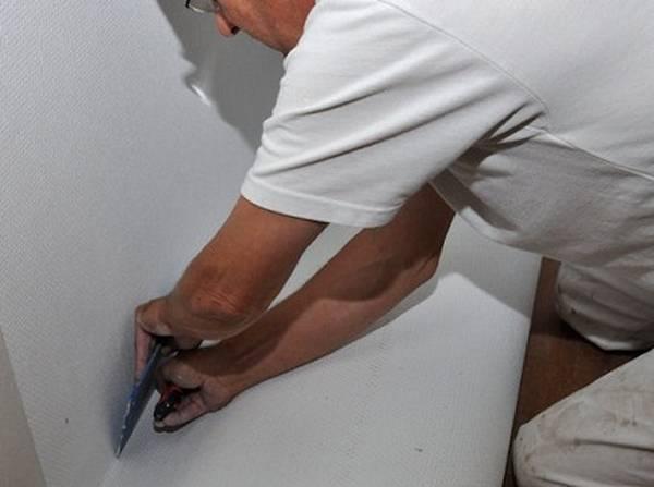 Как правильно клеить стеклохолст под покраску