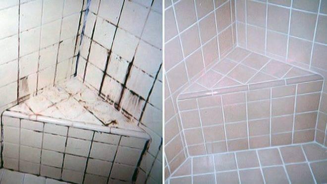 Чем можно убрать плесень в ванной