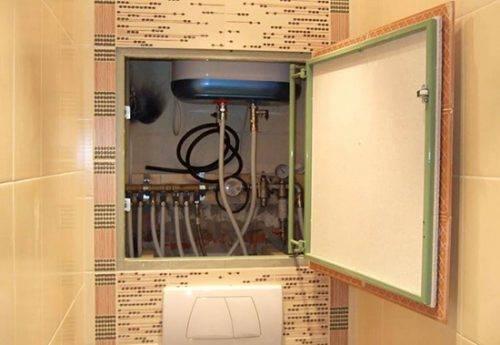 Как спрятать счетчики в туалете