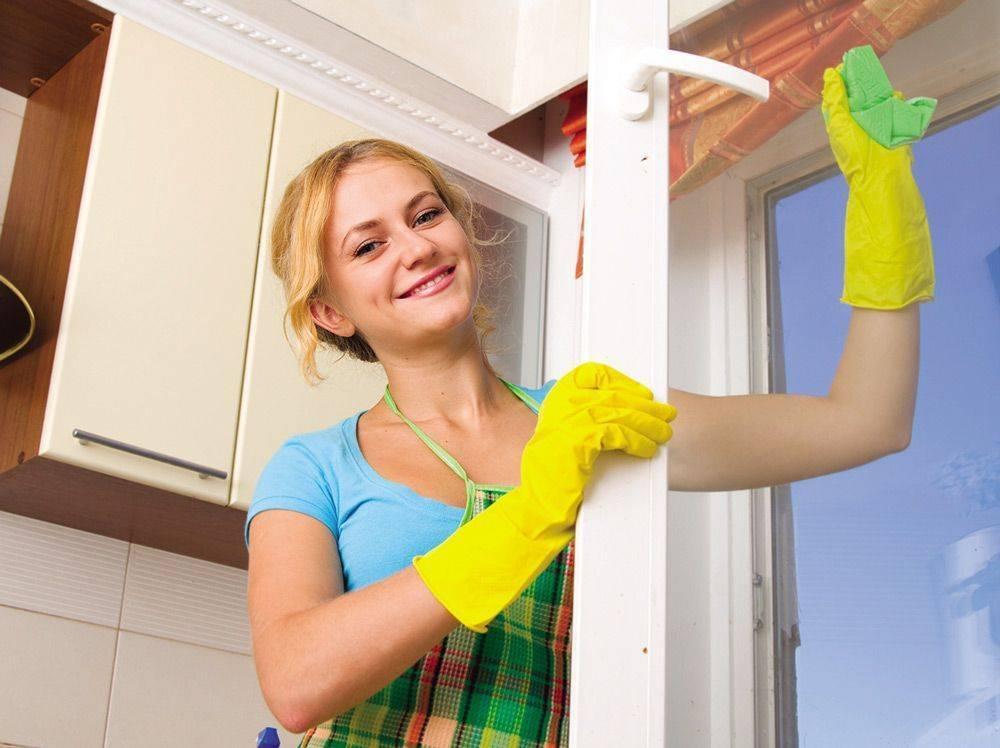 Как помыть пластиковые окна без разводов