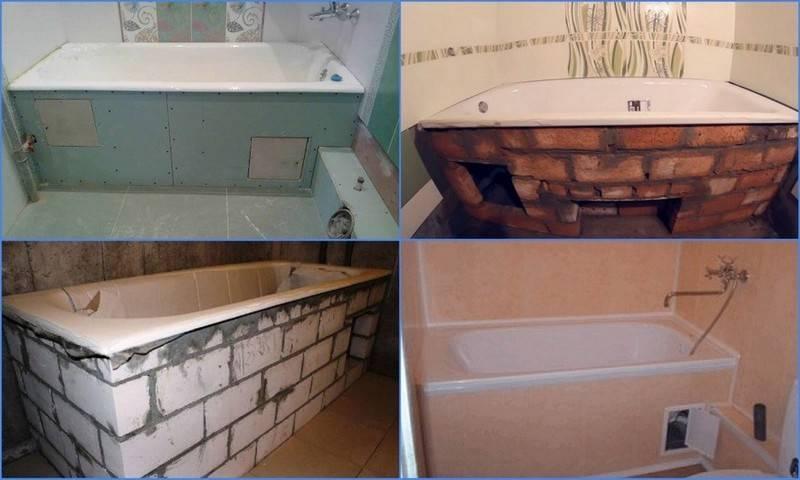 Монтаж акриловой ванны на каркасе видео