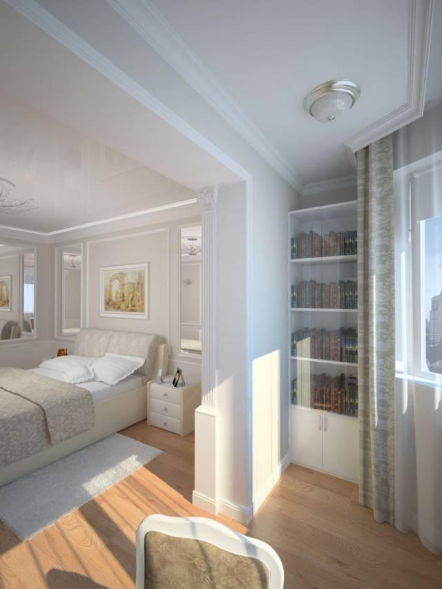 Балкон объединенный с комнатой фото