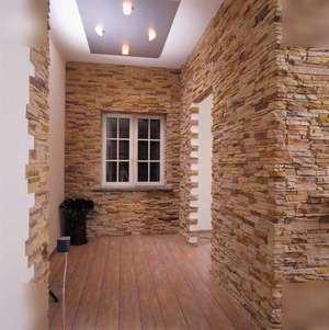 Отделка декоративным камнем внутри помещения фото