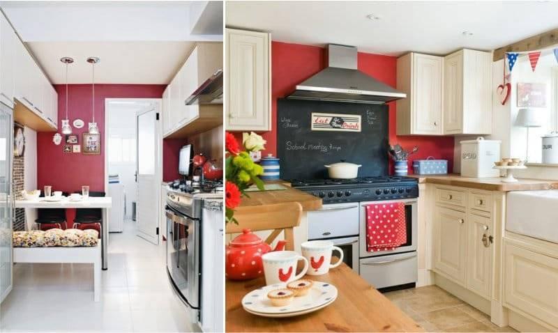 Цветовой дизайн кухни фото