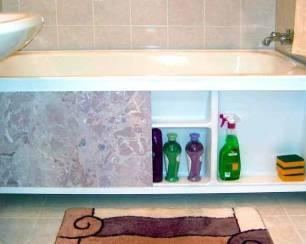 Как крепить экран к акриловой ванне