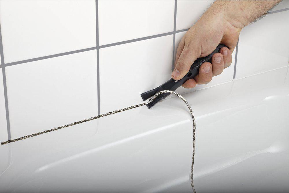 Чем убрать силиконовый герметик с ванны