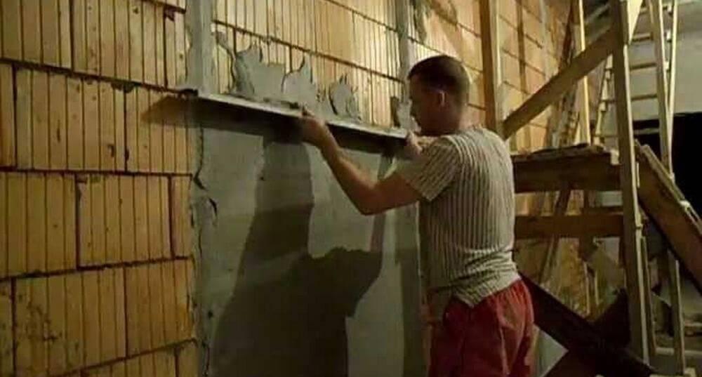 Чем штукатурить стены из газобетона внутри