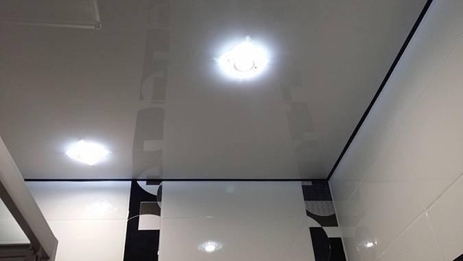 Натяжной потолок без плинтуса фото