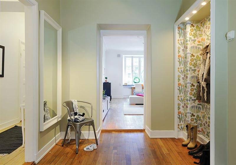 Как оклеить комнату двумя видами обоев фото