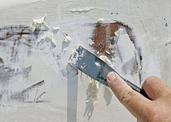 Как убрать побелку с потолка видео