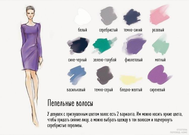Таблица совместимости цветовой гаммы