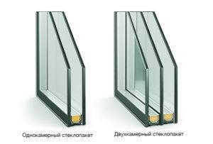 Двухкамерное окно сколько стекол