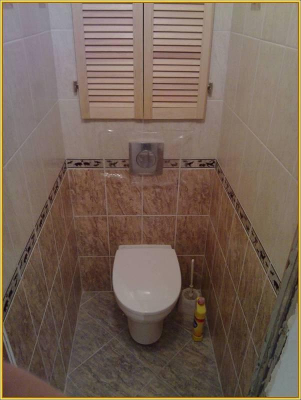 Как заделать нишу в туалете