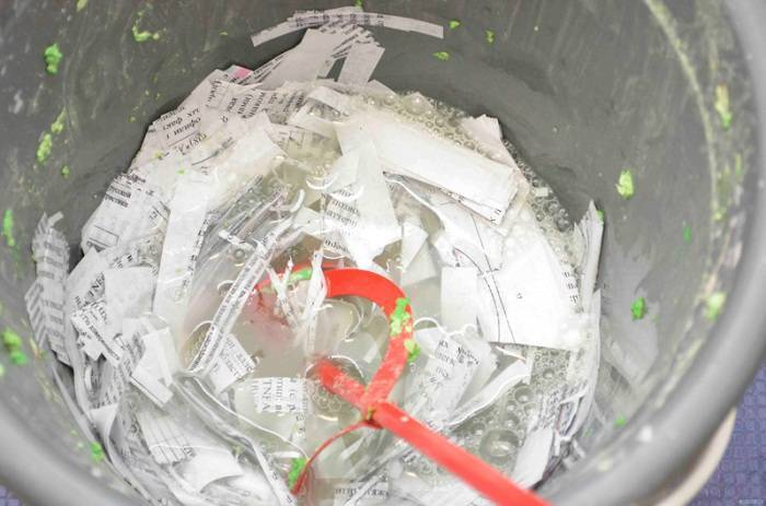 Штукатурка из бумаги