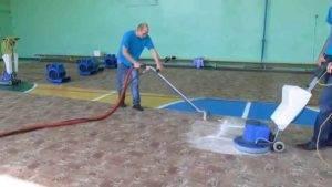 Сухая чистка ковролина