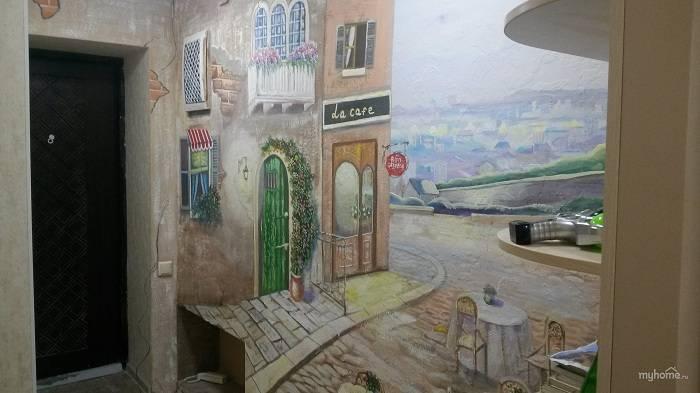 Рисунки карандашом на стене в квартире