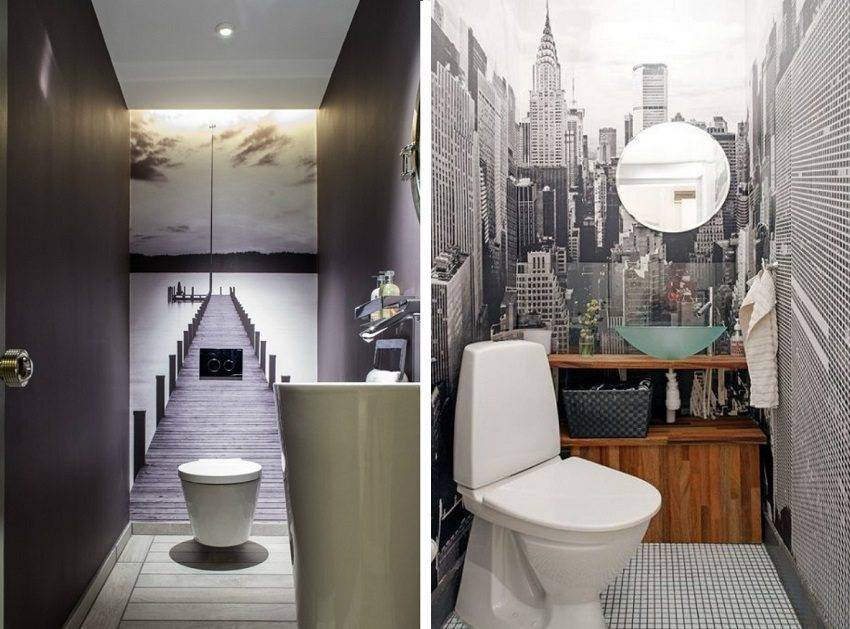 Дизайн очень маленького туалета