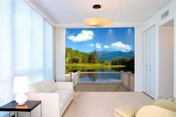 Какой рисунок на обоях зрительно увеличивает комнату