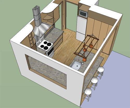Очень маленькая кухня планировка фото