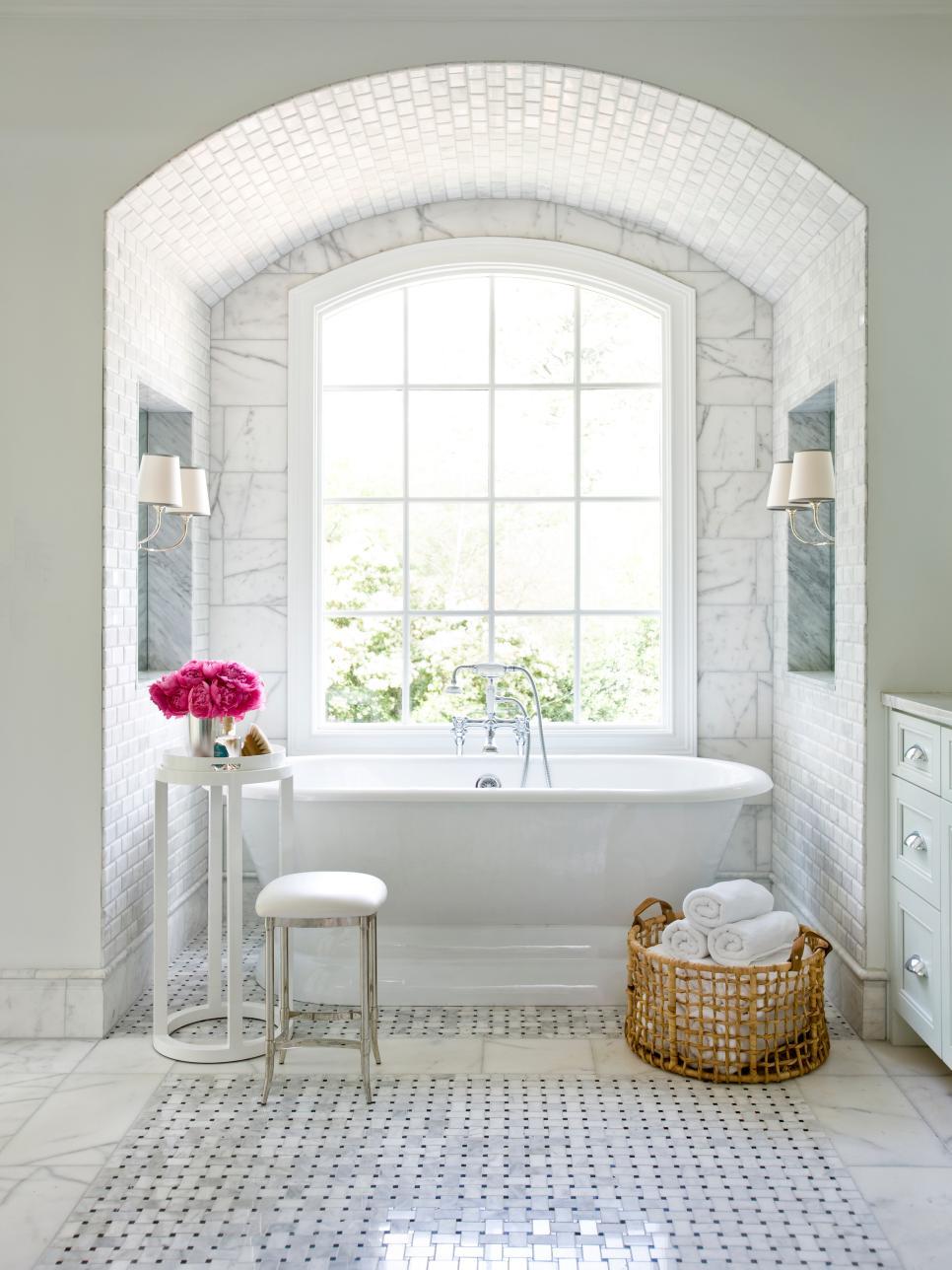 Варианты укладки плитки в ванной фото
