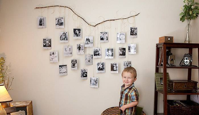 На что можно прикрепить фотографии к стене