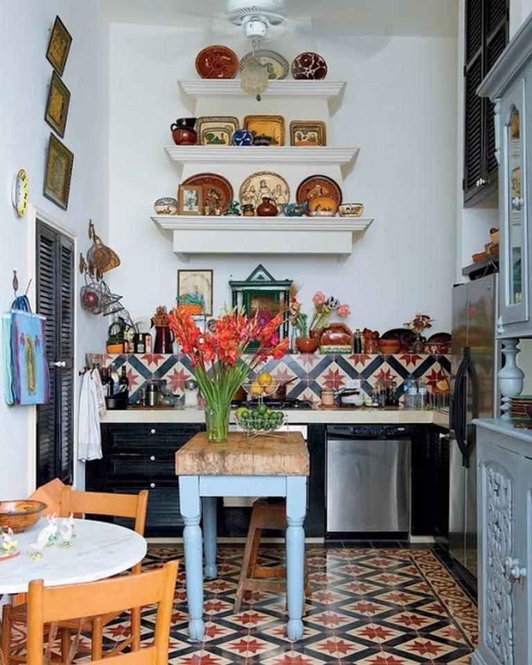 Цветовая гамма цветов в интерьере кухни
