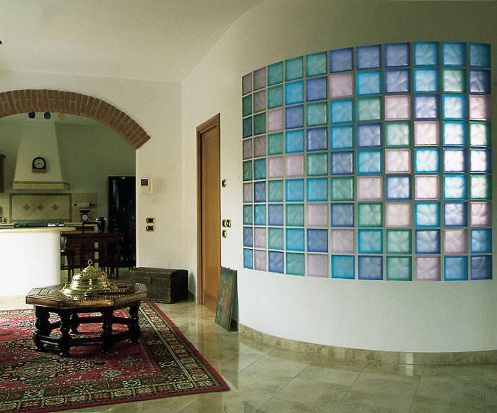Стеклянные блоки в интерьере фото