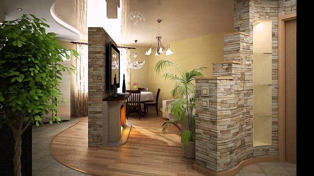 Отделка декоративным камнем в квартире фото