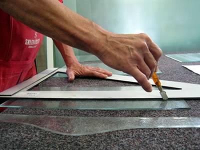 Как отрезать рифленое стекло