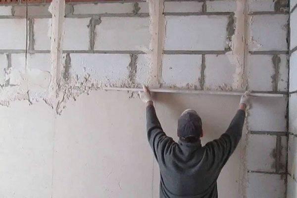 Можно ли штукатурить газоблоков цементным раствором блоки керамзитобетон цена купить