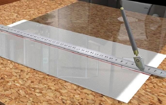 Как правильно резать стекло видео