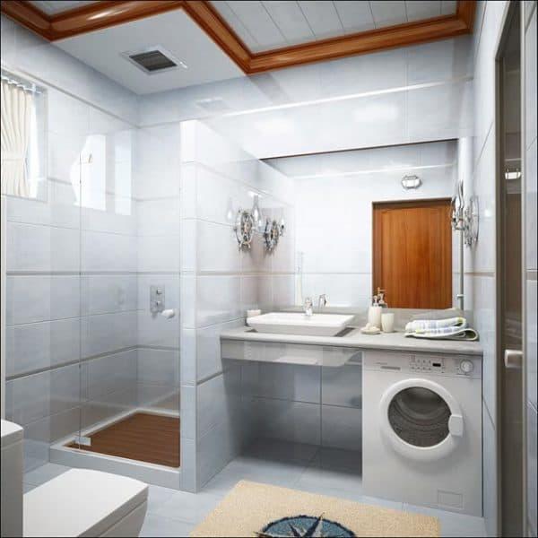 Планировка маленькой ванны с туалетом