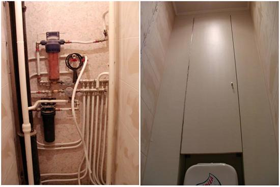 Ремонт туалета фотографии