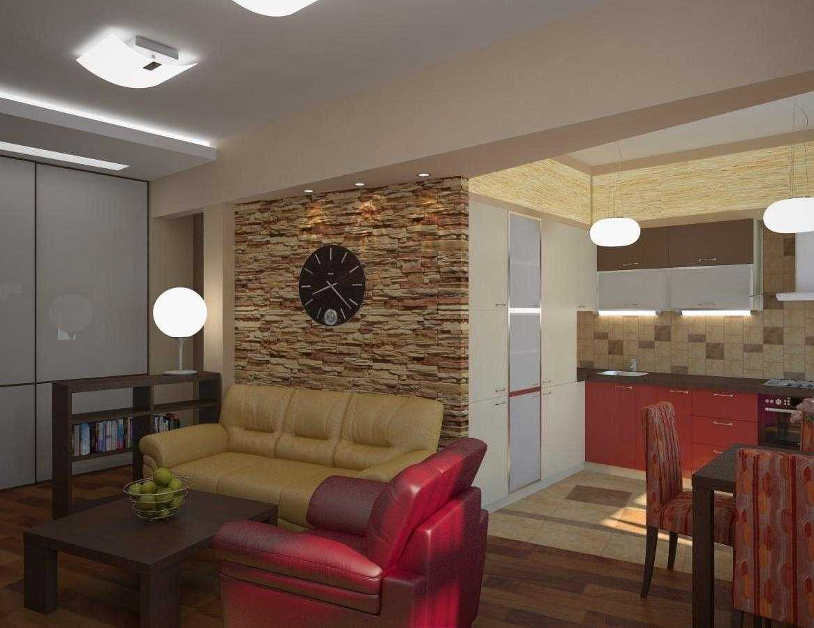 Ремонт кухня и гостиная совмещенные фото