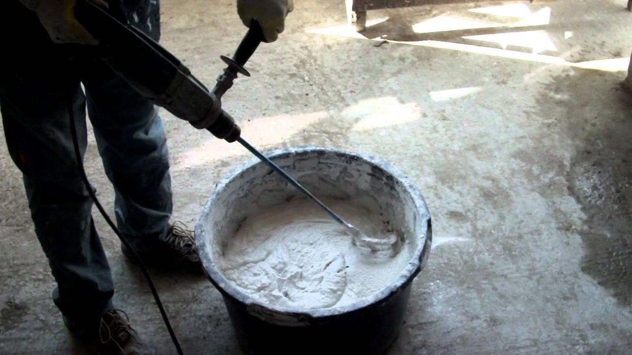 как разводить ротбанд для шпаклевки стен