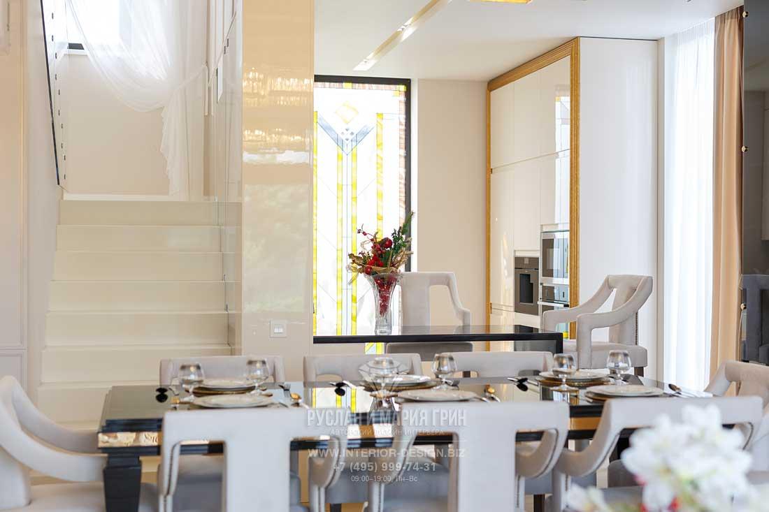 Гостиная совмещенная с кухней дизайн