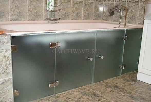 Как установить экран под ванну раздвижной