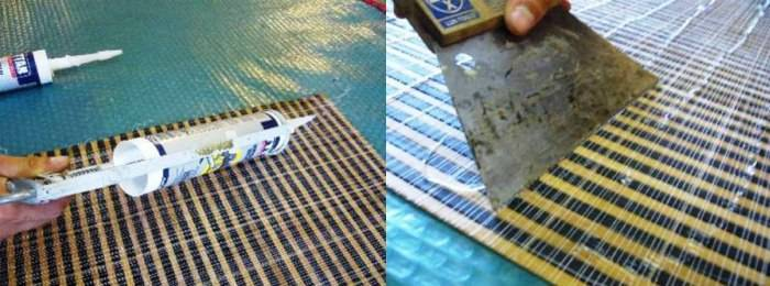 Как клеить бамбуковое полотно на стену