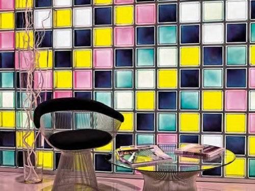 Стены из стеклоблоков фото