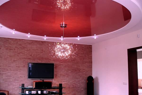 Какие люстры можно использовать для натяжных потолков