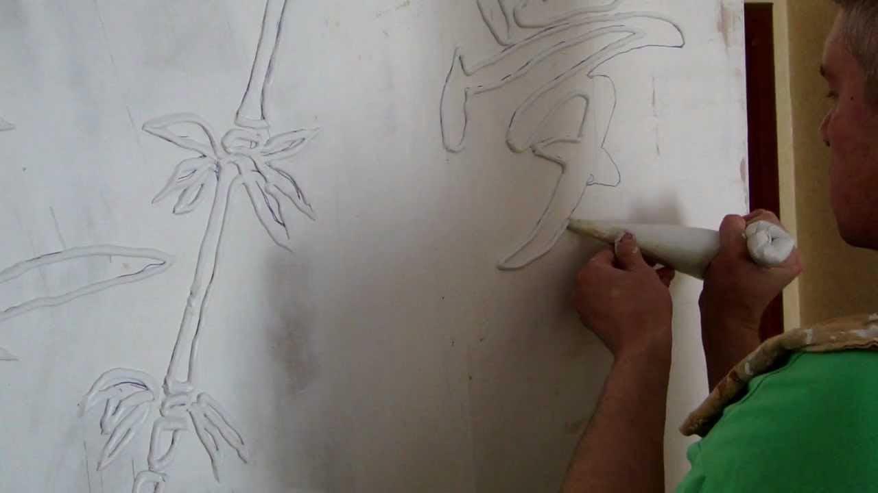 Объемные картины из шпаклевки мастер класс