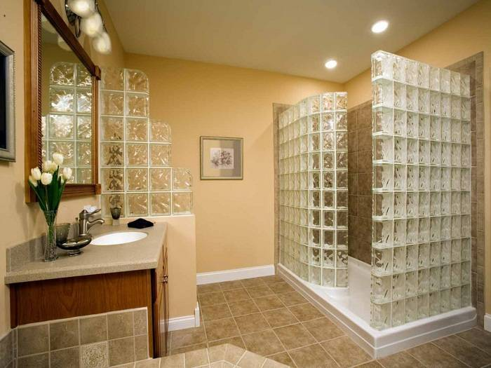 перегородки из стеклоблоков в квартире фото ремонт в квартире