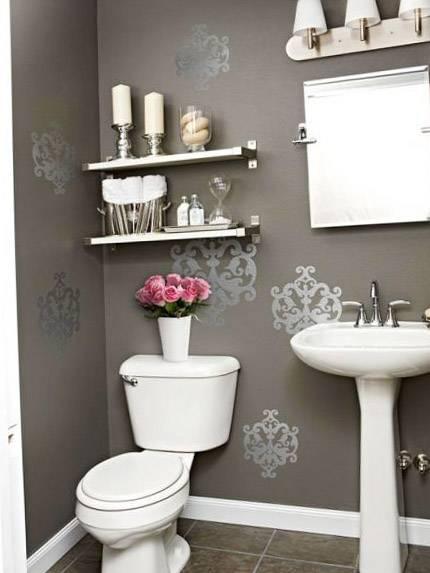 Дизайн маленького туалета в квартире