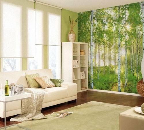 Какой цвет обоев увеличивает комнату фото
