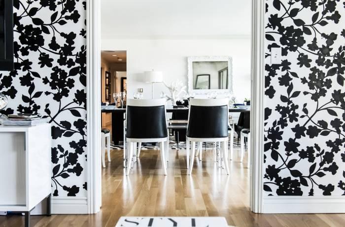 Черно белые обои для стен фото