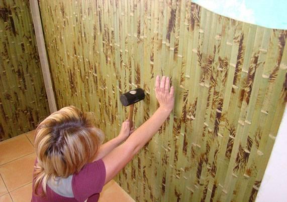 Фотообои бамбук в интерьере фото