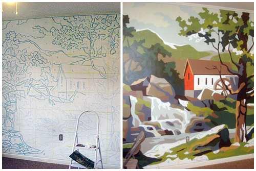Нарисовать картину на стене в квартире
