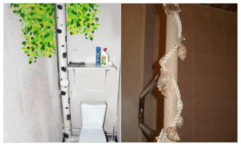 Как скрыть стояк в туалете