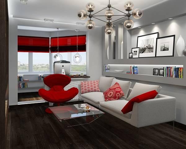 Ремонт комнаты с балконом фото