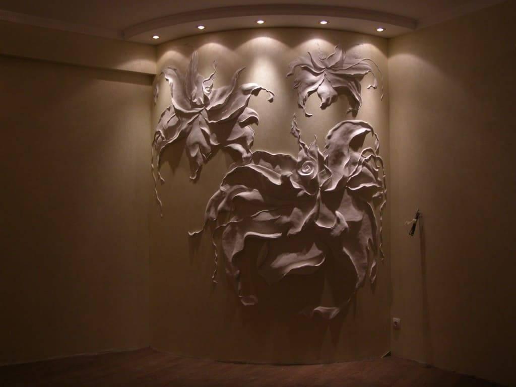 Декоративная лепка на стенах фото